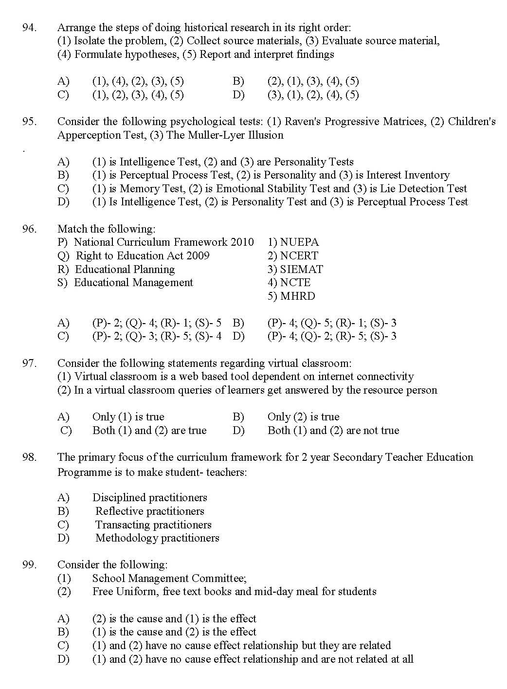 Kerala SET General Knowledge Exam 2017 Question Code 17236 A