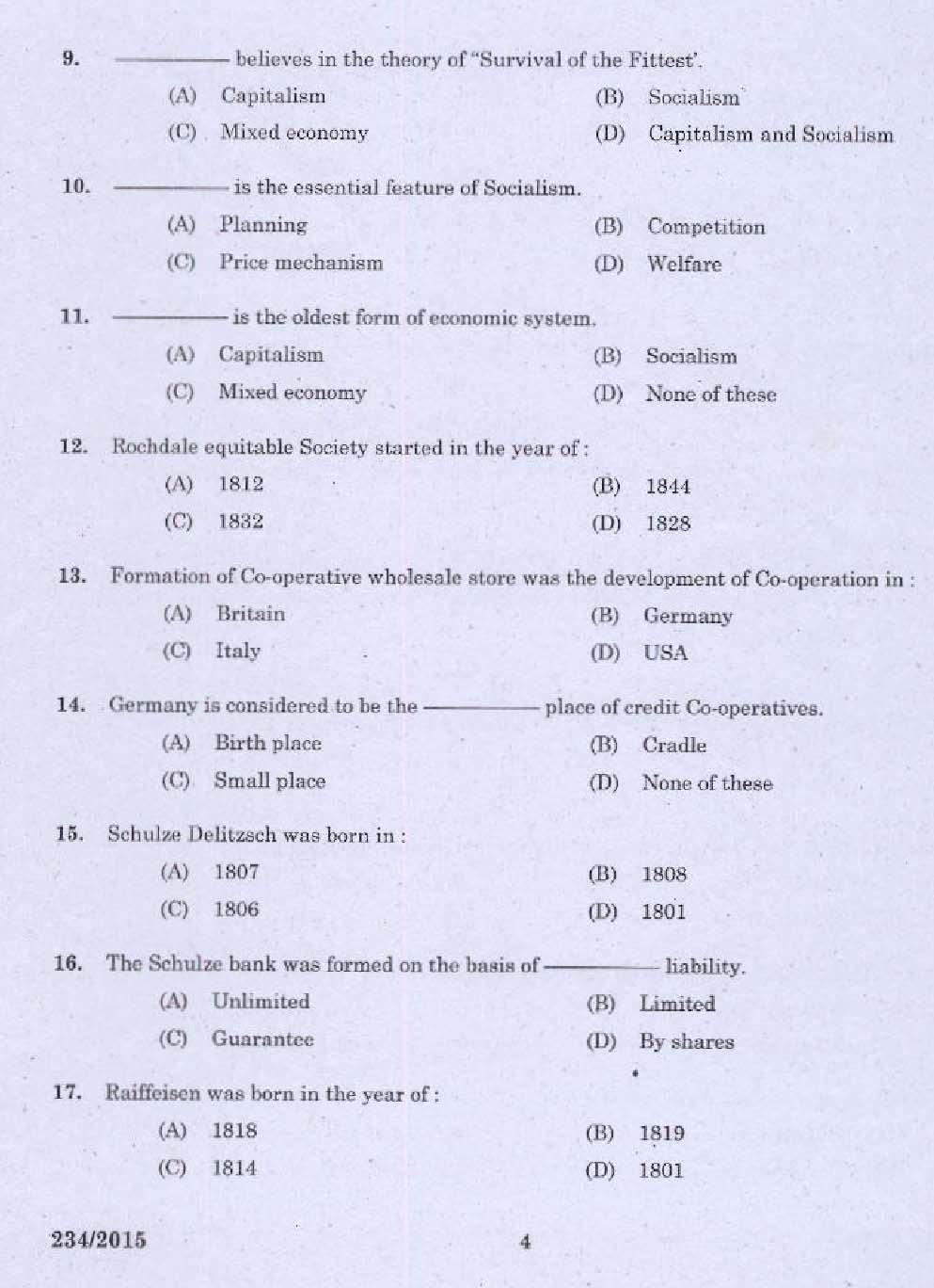 bank exam in 2015